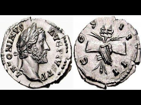 🔝Денарий, 146 - 161 гг., Монета Древнего Рима, Император АНТОНИН ПИЙ, 🌍 Denarius, 146 - 161 AD ✅