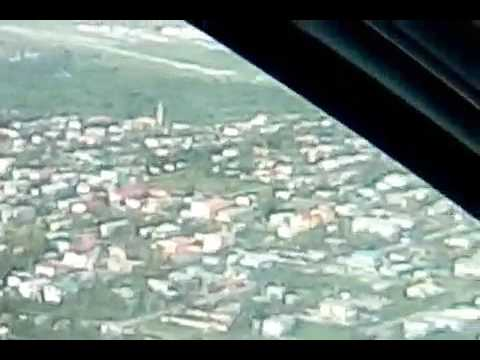 Ogle International Airport landing