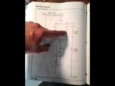 91 Civic won\u0027t crank, wiring diagram - YouTube