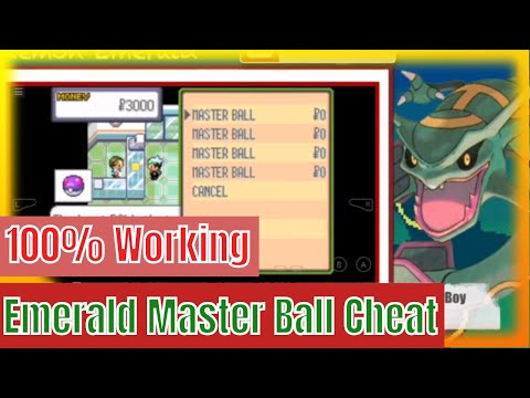 Pokemon Emerald Master ball Cheat