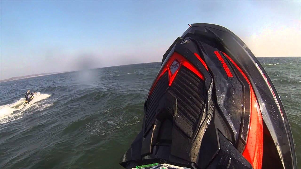 Seadoo Rxp X Wave Jumping 2014 Youtube