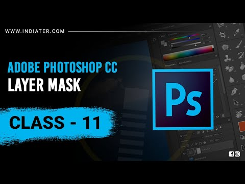 Layer Mask   Adobe Photoshop Tutorial For Beginners in Hindi #indiater   Class 10 thumbnail