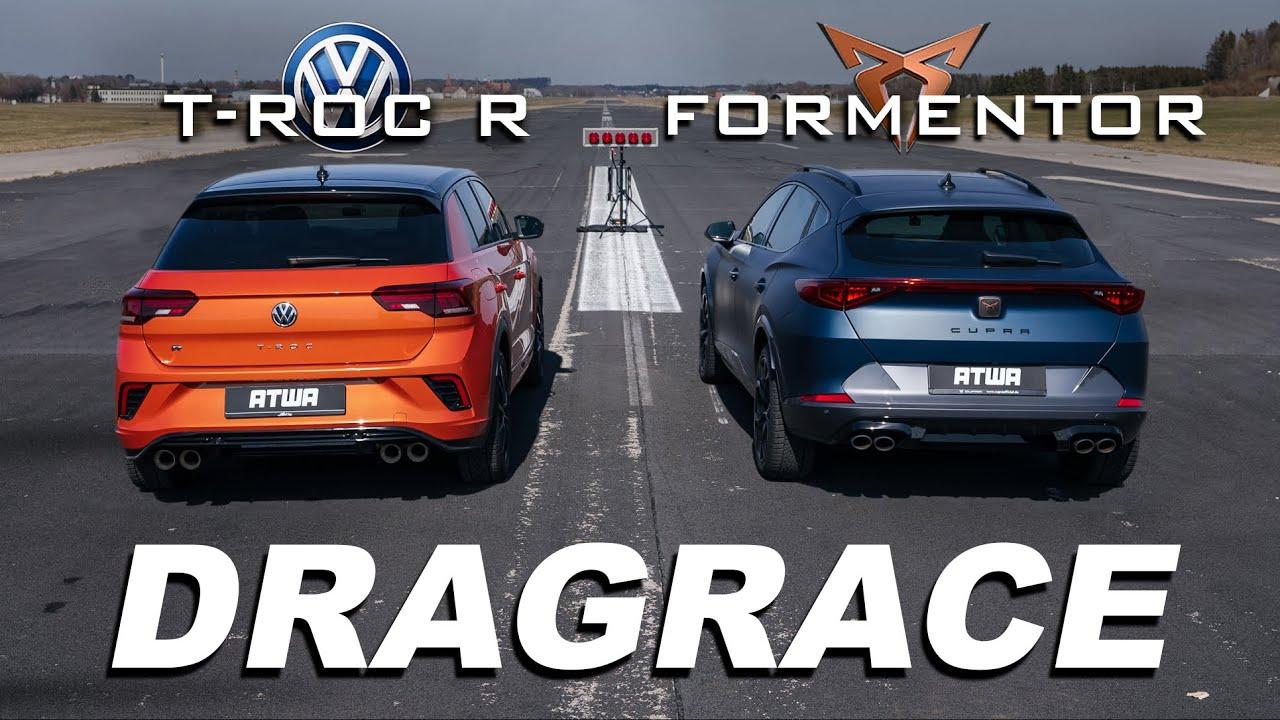 Download CUPRA FORMENTOR vs. VW T-ROC R | DRAG RACE | Daniel Abt