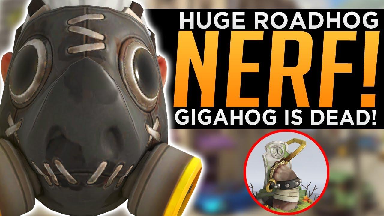 Overwatch: HUGE Roadhog NERF! - Gigahog is DEAD! - New Patch LIVE!