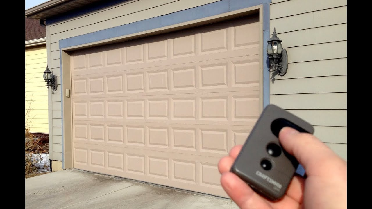 How To Lock A Garage Door Opener Remote Youtube