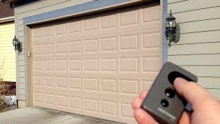 how to lock a garage door opener remote