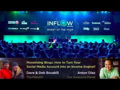 How to turn your Social Media account into an income engine? -  INFLOW Travel Summits'17