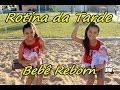 Bebê Reborn - Rotina da Tarde da Mel e Sarah - Passeio na praça por Diário das Gêmeas