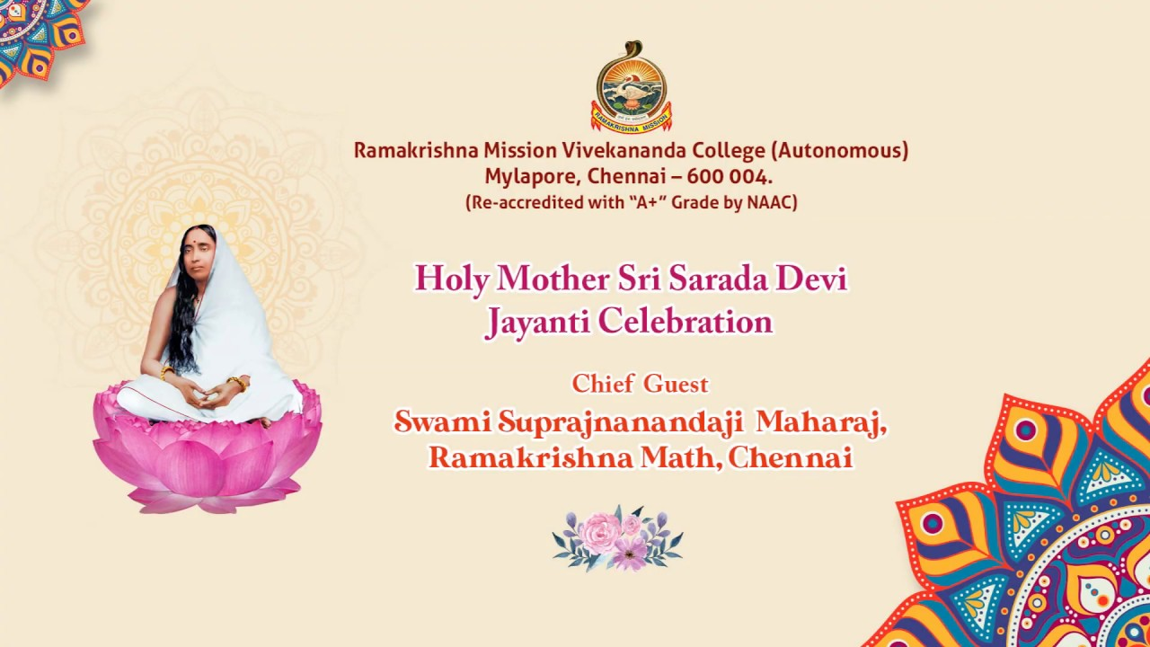 Holy Mother Sri Sarada  Devi Jayanti Celebration