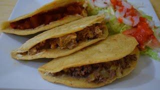 Receta Facil, Quesadillas Fritas, Comida Mexicana!
