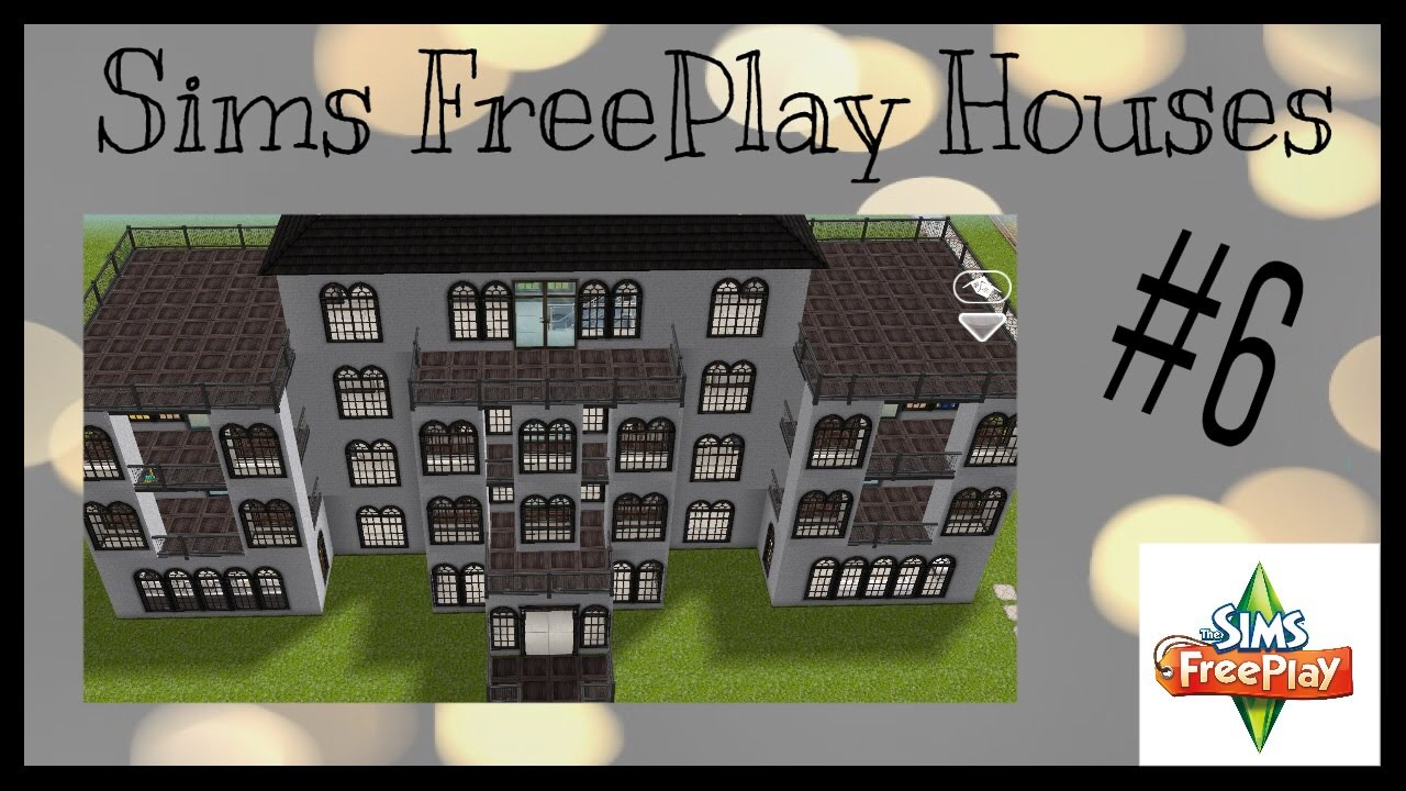 A sims freeplay mansion house idea 6 youtube for Sims house plans free