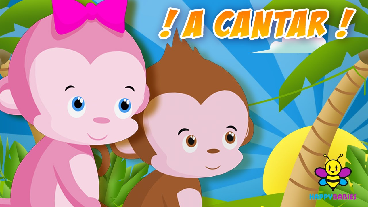 Cinco Monitos Cinco Changuitos Canciones Infantiles Videos Para