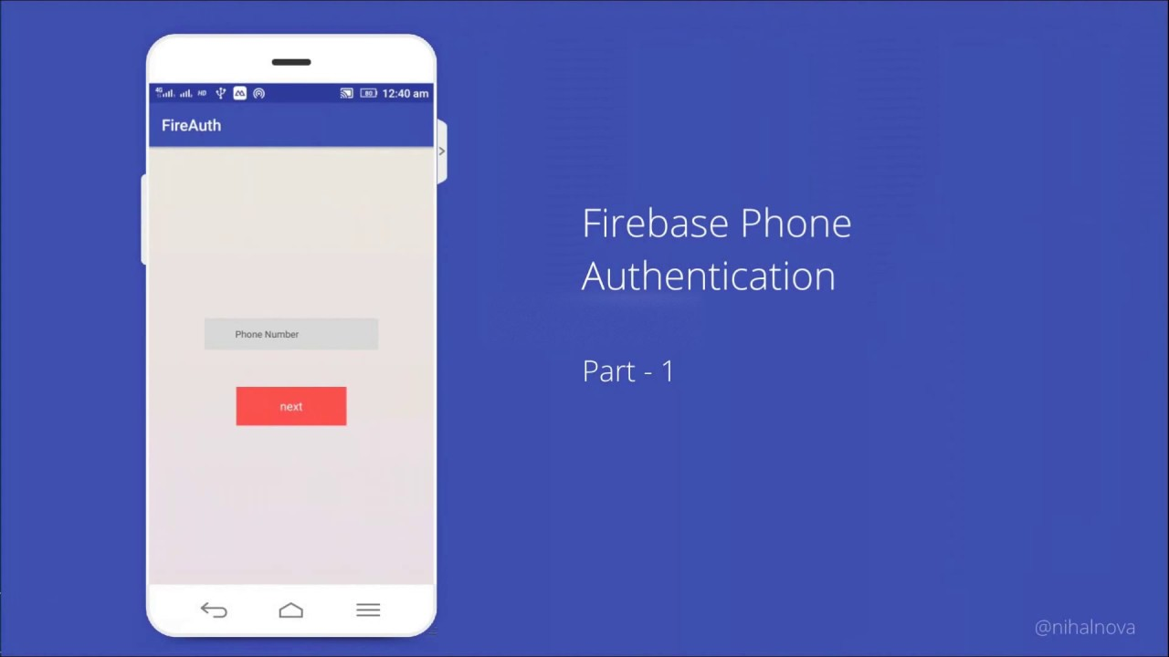 Firebase Tutorial - Phone Authentication - Part 1 | Android Studio