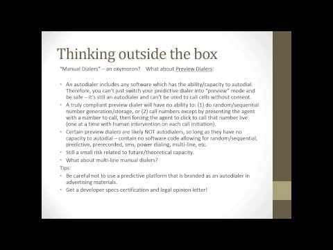 Compliance Webinar: Cutting Edge TCPA Solutions
