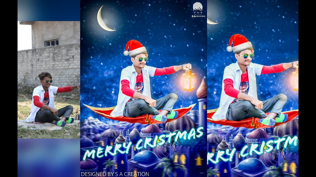 Christmas Background Picsart.Christmas Photo Editing Merry Christmas Picsart Manipulation Tutorial By S A Creation
