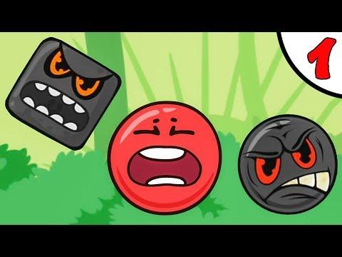 Несносный КРАСНЫЙ ШАРИК против чёрного квадрата и злого шара #1. ИГРА Red Pink Ball на Игрули TV