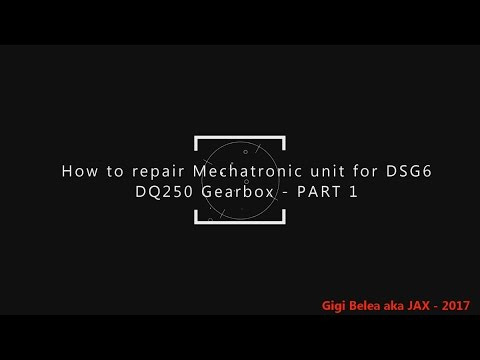 VW DSG Mechatronic Repair Guide - How to repair Mechatronic unit Part 1 - DIY