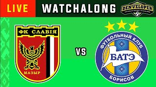 SLAVIA MOZRY vs BATE - Live Football Watchalong Reaction - Vysshaya Liga 19/20