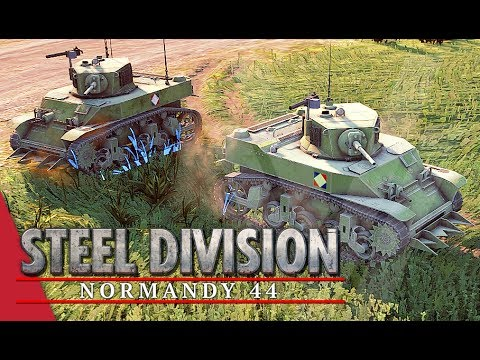 French Precision! Steel Division: Normandy 44 Gameplay (Omaha, 4v4)