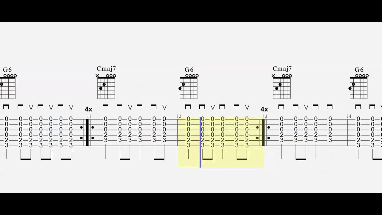 Guitar Chord Practice Cmaj7 To G6 Play Along 10 Strumming