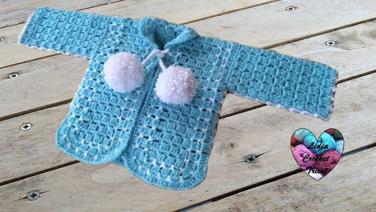 gilet b b crochet 2 2 youtube. Black Bedroom Furniture Sets. Home Design Ideas