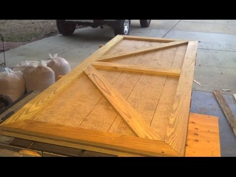 Custom Shed Door Designed And Built In One Short Video