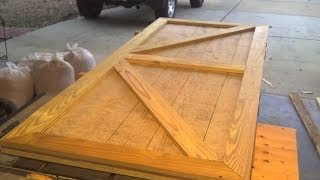 Custom Shed Door Designed And Built In One Short Video.