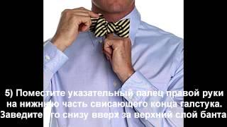 Как завязать галстук  Способ 10  Бабочка