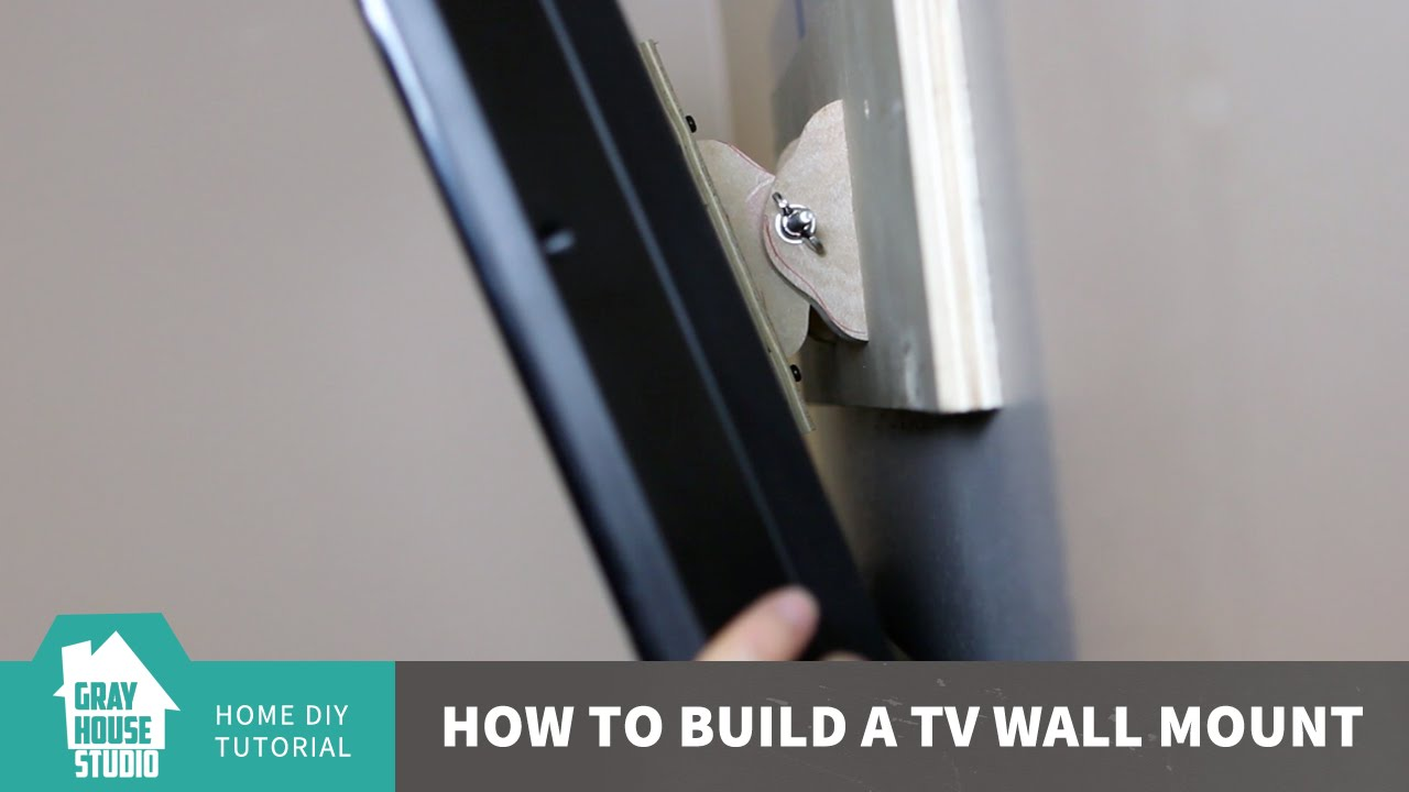 how to build a tv wall mount youtube. Black Bedroom Furniture Sets. Home Design Ideas