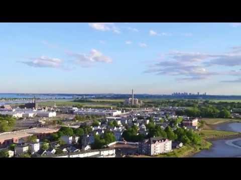 GE Aviation Lynn Massachusetts Aerial Video