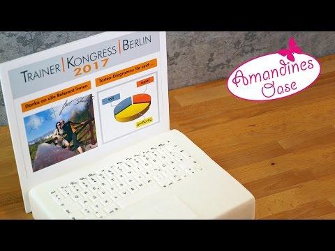 Laptop Torte | Mac Book Fondanttorte | Trainer Kongress Berlin | 3d fondant cake