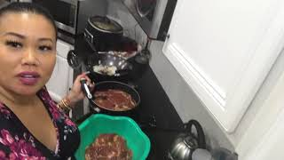 Steak mash potatoes sauté spinach cooking recipe lovelymimi