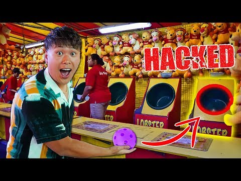 CARNIVAL GAME SCAM! - How To Win (Won Every Prize At A Theme Park) HACKS AND TRICKS YOU NEED TO KNOW