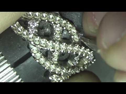 Lavender Pink Diamond Micro Pavé Ring