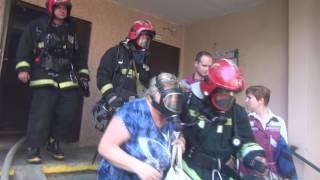 Пожар в тамбуре по ул. Воронянского, 15. 10 человек эвакуировано