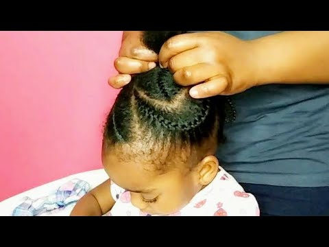 Kids Big Cornrows Hairstyle Kids Natural Hairstyle Youtube