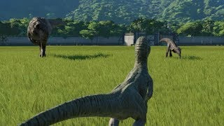 Rexy and Blue VS Indoraptor - Jurassic World Evolution
