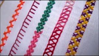Pontos básicos de bordado – Parte-3 – Ponto de bordar para iniciantes
