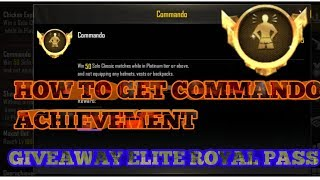 how to get commando title in pubg mobile || elite royal pass giveaway pubg mobile