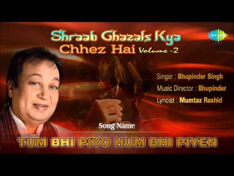 Tum Bhi Piyo Hum Bhi Piyen | Ghazal Song | Bhupinder Singh