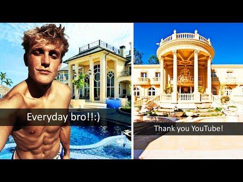 10 MOST RIDICULOUS YOUTUBER HOUSES WORTH MILLIONS (Jake Paul, FaZe Rug, RiceGum, Kwebbelkop etc)