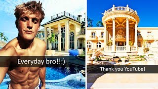 10 MOST RIDICULOUS YOUTUBER HOUSES WORTH MILLIONS (Jake Paul, FaZe Rug, RiceGum, Kwebbelkop etc)