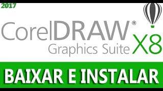 Baixar instalar e ativar Coreldraw X8