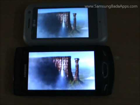 Super Clear LCD v/s TFT: Indoor Demo on Samsung Wave II