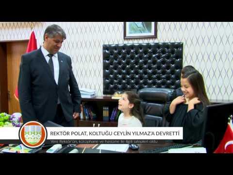 Rektör Prof. Dr. Polat, Koltuğunu Ceylin Yılmaz'a Devretti
