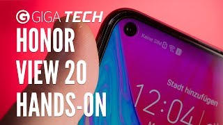 HONOR VIEW 20 im HANDS-ON (deutsch): Mit Loch im Display in die Selfie-Zukunft – GIGA.DE