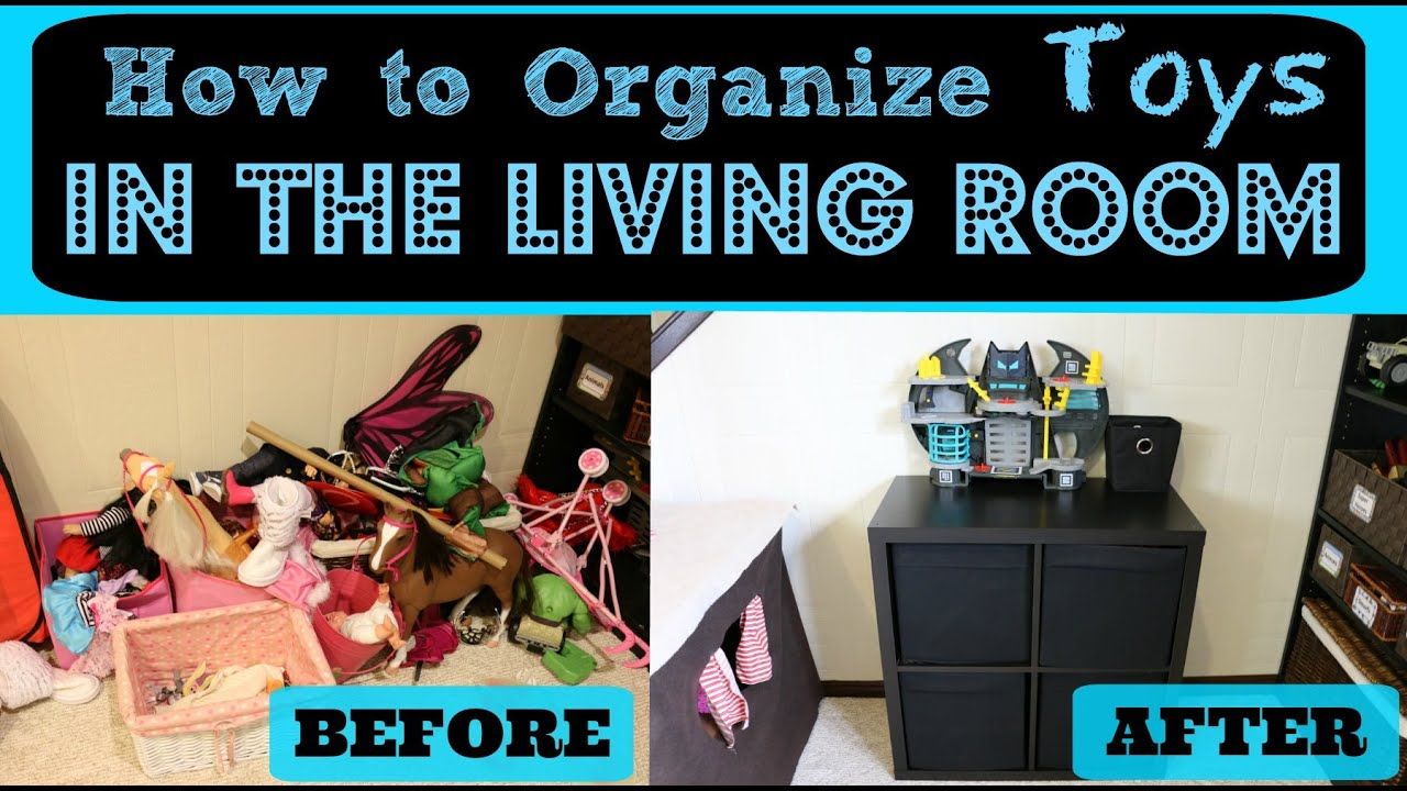 How to Organize Toys in the Living Room - YouTube