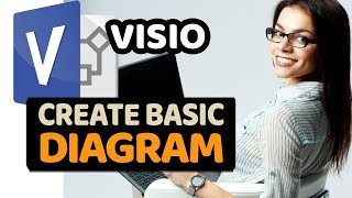 How to create Basic Microsoft Visio Diagram (Step by Step)