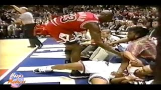 Michael Jordan Very Hard Foul to John Starks! (1996 Playoffs)