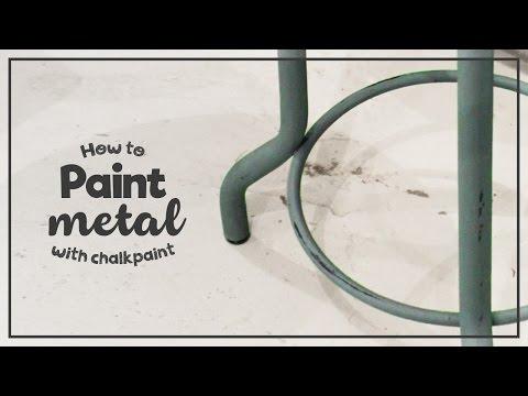 Måla metall - Chalk paint - Paint metal